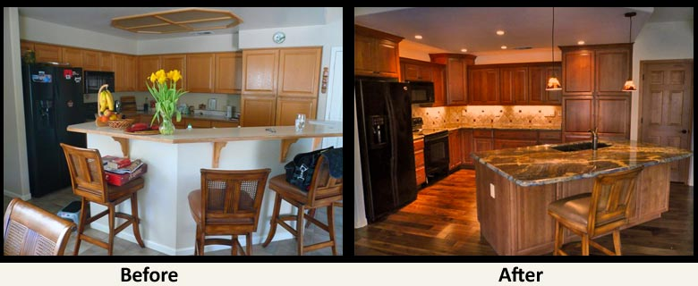 Remodel Kitchen Before And After before and after kitchen renovations amazing before and after